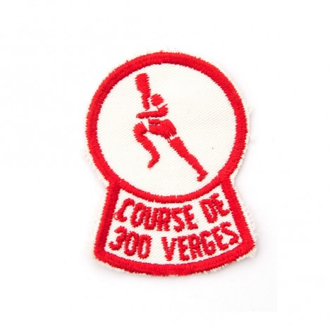 "Patch brodé vintage ""Course de 300 Verges"""