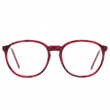 Lunettes vintage rouge forme ronde Bourgeois France