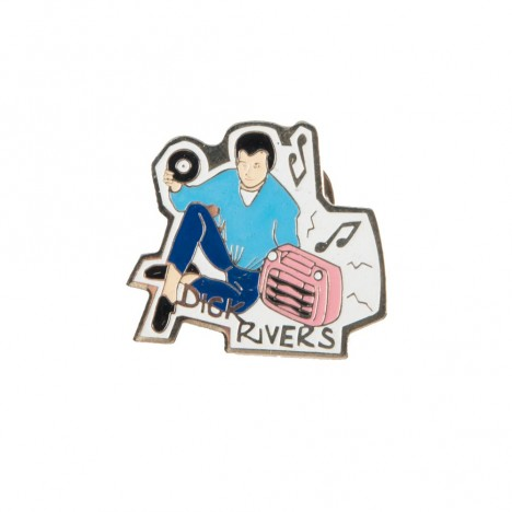 Pin's collector Dick Rivers 90's
