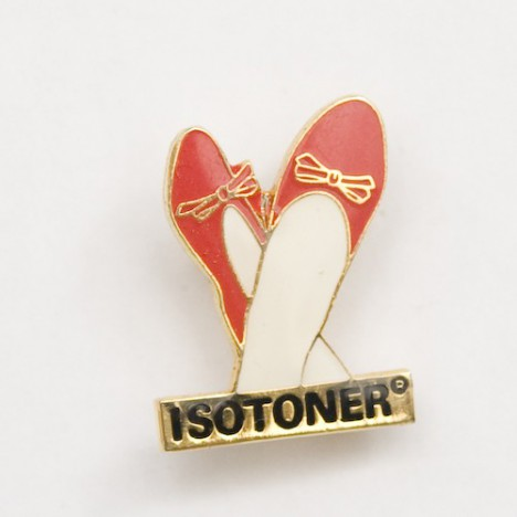 Pin's vintage isotoner ballerines / chaussons années 80