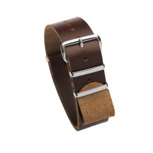 Bracelet NATO cuir marron 20 mm
