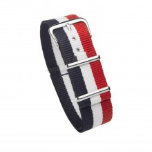 Bracelet NATO France tricolore 20 mm