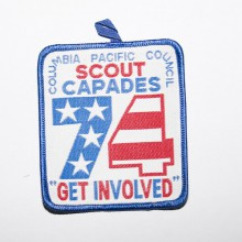 "Patch brodé scouts 74 scout capades ""get involved"" - Colombie pacifique"
