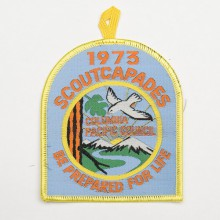 "Patch brodé scouts 1973 scout capades ""be prepared for life"" - Colombie pacifique"
