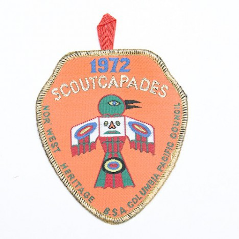 Patch brodé scouts 1972 scout capades - Colombie pacifique