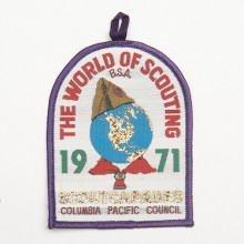 Patch brodé World of Scouting 1971 scouts capades - colombie pacifique