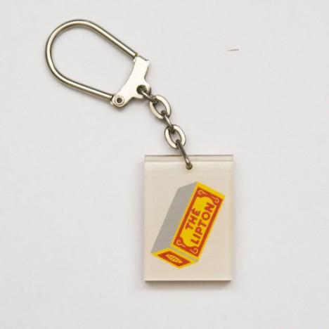Porte cl vintage th lipton des ann es 60 boutique vintage for Porte cle annee 60 70