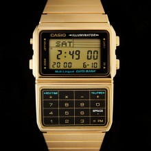 Montre Casio calculatrice vintage dorée - Casio DBC-610GA-1DF data bank