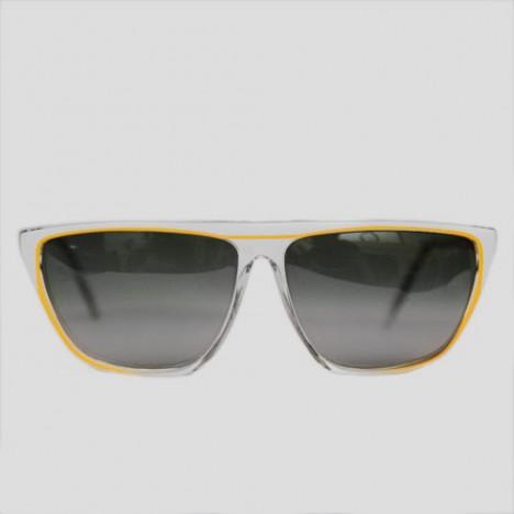 lunettes de soleil vintage polaroid blanches et jaunes. Black Bedroom Furniture Sets. Home Design Ideas