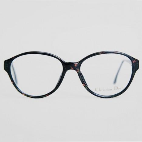 Lunettes Christian Dior vintage noires pour femmes, verres transparents,  neuves de stock ancien années 207654efd87a