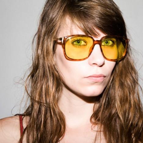 lunettes vintage dior homme dor es cailles et verres jaunes style jacques chirac ann es 70. Black Bedroom Furniture Sets. Home Design Ideas
