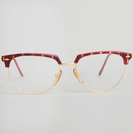 lunettes vintage femme lastes style clubmaster rouges et dor es ann es 70 boutique vintage. Black Bedroom Furniture Sets. Home Design Ideas