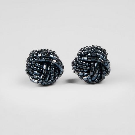 perle de rocaille boucle d'oreille