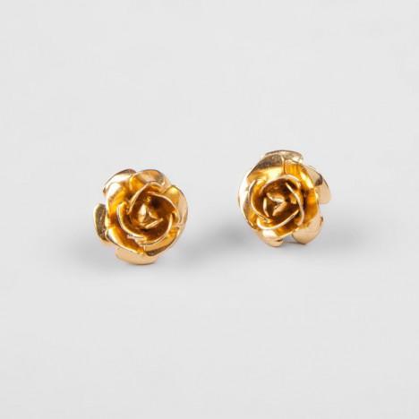Boucles d'oreilles rose dore