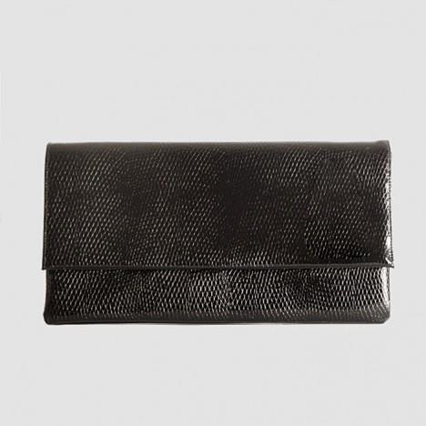 Célèbre Pochette vintage noire laquée style croco année 70 - Boutique Vintage QV94