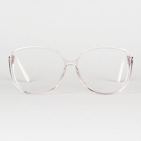 c8092a89a9 Lunettes vintage Silhouette hip hop pour femme blanches oversize années 80