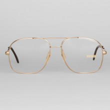 Lunettes vintage Zeiss homme papy style dorées – forme aviator
