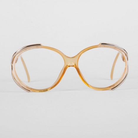71f2d696b6d070 Lunettes vintage Christian Dior femme ambre et dorées années 70 ...