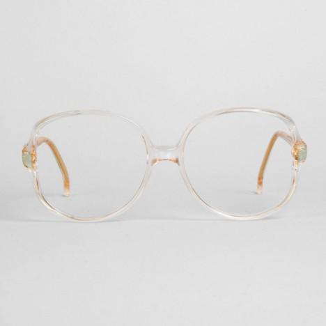 lunettes vintage firenze en plastique transparent et vert d eau oversized ann es 70 boutique. Black Bedroom Furniture Sets. Home Design Ideas