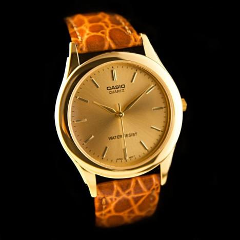 bracelet montre casio cuir