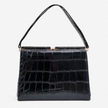 sac main vintage gris cuir ska ann es 60 tarkor bag boutique vintage. Black Bedroom Furniture Sets. Home Design Ideas