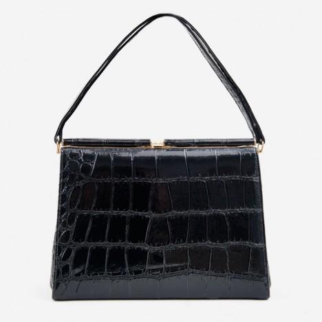 sac crocodile vintage. Black Bedroom Furniture Sets. Home Design Ideas