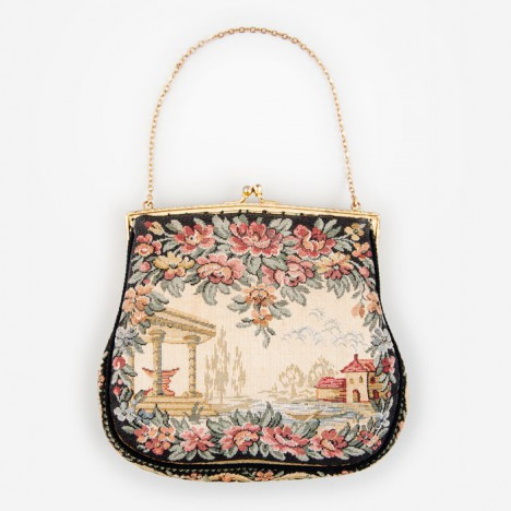 petit sac porte monnaie vintage en tapisserie ann es 50 boutique vintage. Black Bedroom Furniture Sets. Home Design Ideas