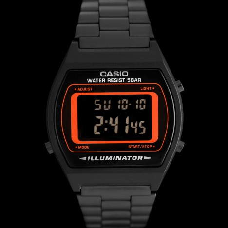 casio b640wb 4bef montre casio r tro futuriste noire et orange casio b640 boutique vintage. Black Bedroom Furniture Sets. Home Design Ideas