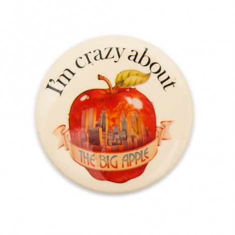 Badge vintage New York I'm crazy about the Big Apple
