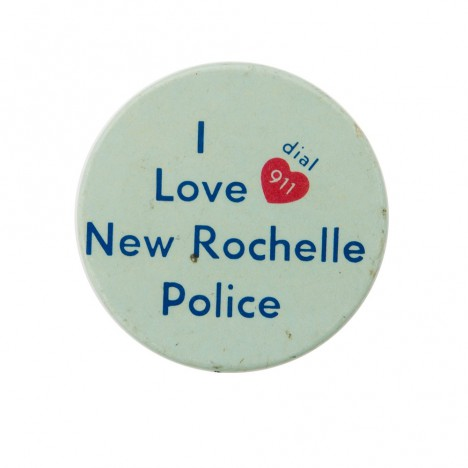 Badge Vintage Police New Rochelle 60's