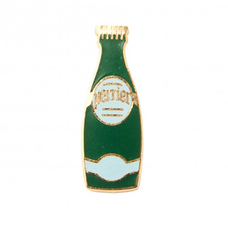 Pin's vintage Bouteille Perrier bleu 80's
