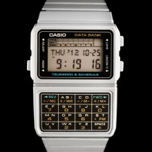 Montre casio calculatrice vintage grise - Casio DBC-610A-1A