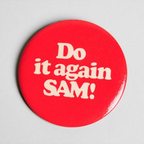 Badge Vintage Do it Again Sam années 80 – 2,5€