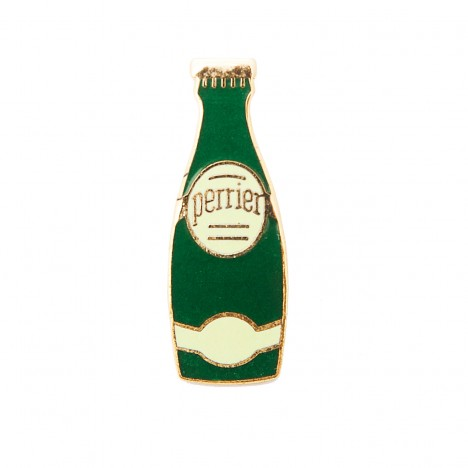 Pin's vintage bouteille Perrier verte