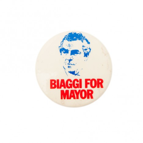 Badge Mario Biaggi le corrompu, campagne New York 1973