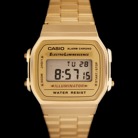 montre casio en or