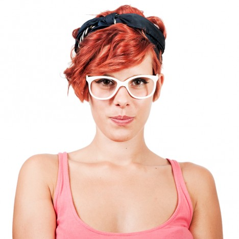 Lunettes vintage blanches stylished 70's