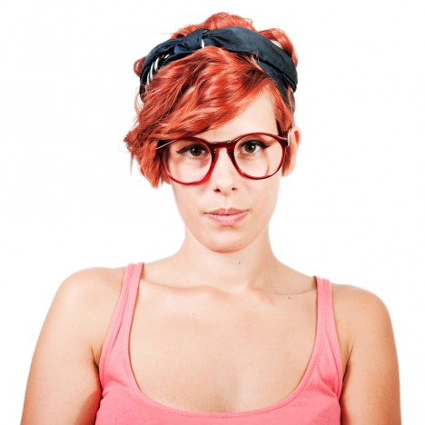 Lunettes vintage rouges Mainstreet Preppy style