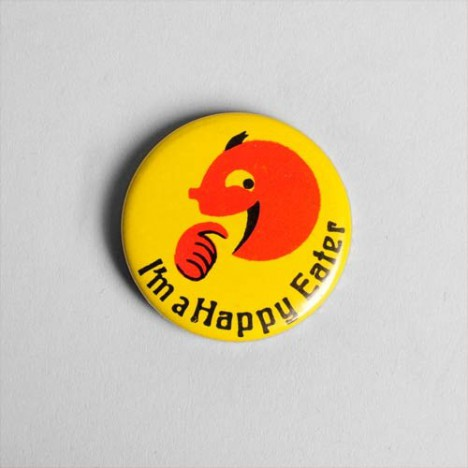 Badge Vintage I'm happy eater années 60/70 Collector