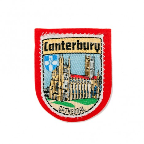 Patch vintage cathédrale Canterbury 60's